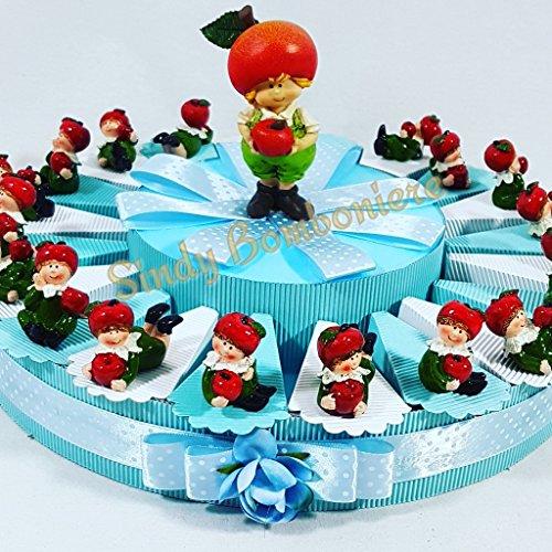 Torta bomboniere gnomi folletti 20 fette spedizione inclusa battesimo nascita sb