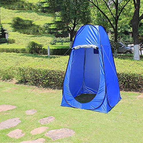 GOODLUKE Outdoor WC Zelt, Pop-up Portable Camping Dusche Strand Ankleideraum Zelt Wasserdicht Winddicht UV Zelt,Blue