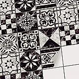 creatisto Fliesen deko Fliesenfolie u. Fliesenaufkleber | Fliesen überkleben Fliesenaufkleber für Deko Badezimmer Wandfliesen - Fliesenfolie Bad | 15x15 cm - Motiv Marmor Muster - 9 Stück