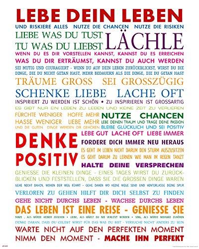 empireposter - Motivational - Lebe Dein Leben Bunt - Größe (cm), ca. 40x50 - Mini-Poster, NEU -