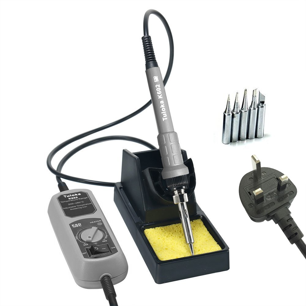 tuloka 60w electric esd soldering iron station kit with on off switch module 10. Black Bedroom Furniture Sets. Home Design Ideas