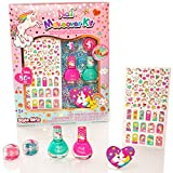 Style Girlz Unicorn Nail Makeover Kit - Girls Cosmetic Nail Polish Nail Stickers Make-up Set