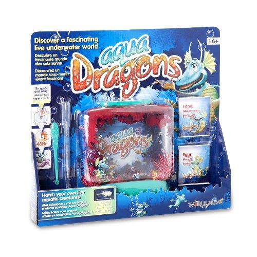 World Alive SL- Aqua Dragons Acquario 'Mondo Sottomarino' in Custodia Aperta Fai dischiudere Le tue Creature acquatiche Vive, Multicolore, 4001