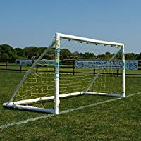 Samba 8 x 4ft Football Goal – Portable, easy assembly, weatherproof Garden Goal Posts with Football Nets