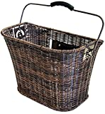 Büchel Fahrrad-Lenkerkorb aus hochwertigem Polyrattan, braun, 40503910