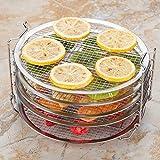 Sarplle piroscafo in Acciaio Inox Multifunzione piroscafo Supporto per Alimenti a 5 Strati per friggitrici Air Fyer, teglia, teglia per Pizza, griglia