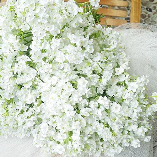 bringsine Baby Atem/Gladiolen Hochzeit Dekoration Weiß Farbe Seide künstliche Blumen 10Stück/lot