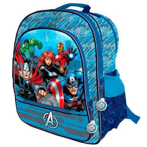 Avengers AST0931 Kinder Rucksack, 41cm, Polyester, 4 Taschen, Captain America, Thor, Iron Man, Hulk -