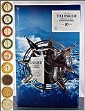 Talisker 10 Jahre Single Malt Whisky mit 2 Original Gläsern und 9 DreiMeister Edel Schokoladen in 9 edlen Geschmacksvariationen