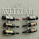 Casier à vin mural casier à vin suspendu fer rouge vin restaurant décoration mur casier à vin (Couleur : B)