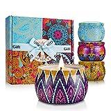 mreechan Vela perfumada,perfumada,Vela perfumada Natural Wake Box 4 Set de Regalo Decorativo para Velas, Adecuado para Navidad, cumpleaños, San Valentín, etc.