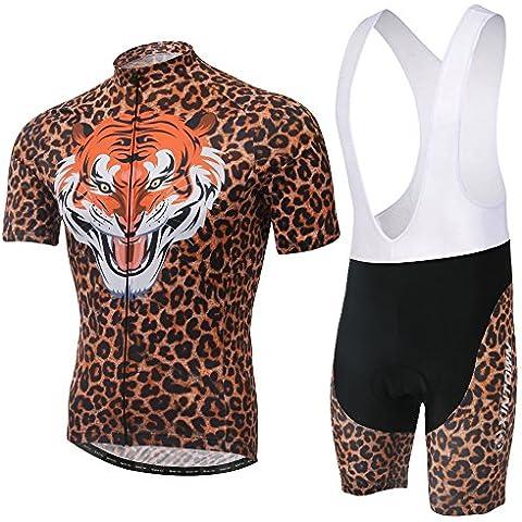 Hebike Tiger-Maglia da ciclismo da uomo a maniche corte, in