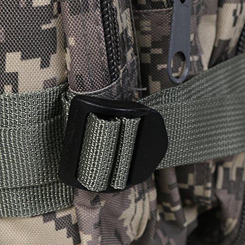 ECHI 3P Tactical Rucksack, Military Water Repellent Wandern Camping Rucksäcke für Outdoor Wandern Camping Trekking Jagd Khaki