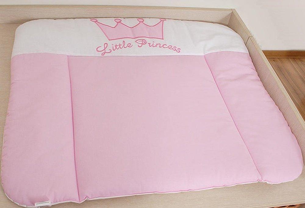 Materassino per fasciatoio, in tessuto, grande, �motivo principessa, colore: rosa