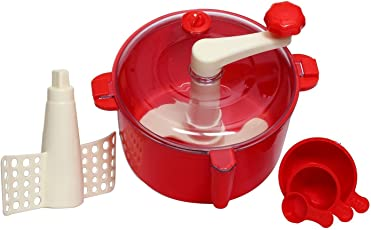 Plastic Manual Food Processor/Dough Maker/Atta Maker in Red Color by Next ON
