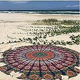 Tfxwerws Hippy Boho Gypsy Coton Nappe Serviette de plage indien Mandala rond Plage Throw Tapisserie