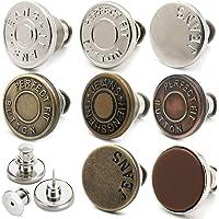 8 Perni per Bottoni Fit per Jeans, Perni Staccabili e Rimovibili per Bottoni Jean, Bottoni in Regolabili Possono…