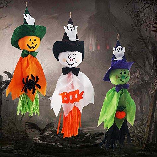 Kostüme Grusel (CSDSTORE Halloween Gespenst Geist Deko Hänger Party Dekoration Grusel)