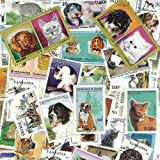 Collection de timbres Chats Et Chiens oblitérés Nbre de timbres:100 timbres différents