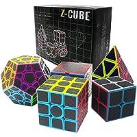 Fibra del Carbón Cubo mágico cajas de regalo Set 2x2x2,3x3x3,Meganminx ,Skewb , Pyraminx Juguete profesional del cubo del rompecabezas (Set02) - Peluches y Puzzles precios baratos