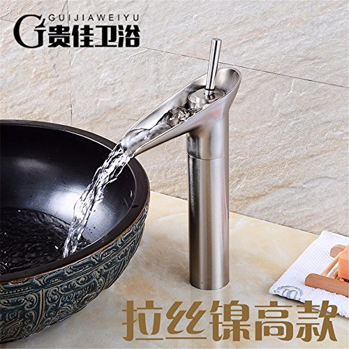 QH Faucet Badewannenarmaturen Waschtischarmaturen Waschraumarmaturen Europäischer Stil Kupfer Antik Weinglas Retro Einlochmontage Warm und Kaltwasserhahn Wasserhähne