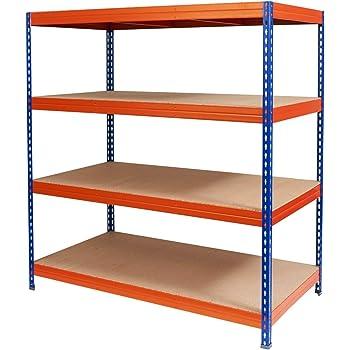 schwerlastregal taurus stabiles steckregal f r keller lager und garage traglast 875 oder. Black Bedroom Furniture Sets. Home Design Ideas