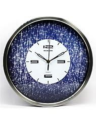 Creativa Pastoral salón ver las estrellas 14 pulgadas restaurante reloj de pared de la habitación de silencio reloj