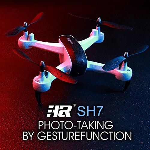 HR SH7 1080P WIFI FPV Camera RC Drone Remote Control Quadrocopter Drone with Camera - Black - Pto Control