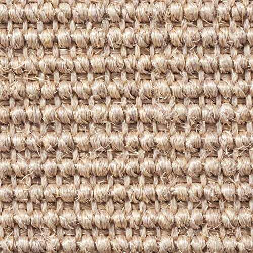Teppichboden Auslegware | Sisal Naturfaser Schlinge | 400 cm Breite | natur | Meterware, verschiedene Größen | Größe: 1 Muster
