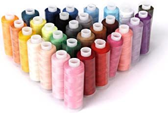 Imported Polyester Sewing Quilting Threads 40S/2 Pack of 30 Spools Assorted C...-15012867MG