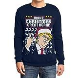 Hässlicher Weihnachtspullover Trump Make Christmas Great Again Herren Sweatshirt