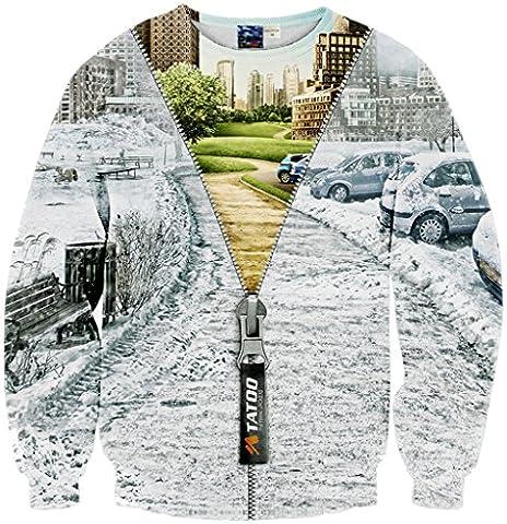 Pizoff Unisex Hip Hop sweatshirts with 3D Digital printing 3D