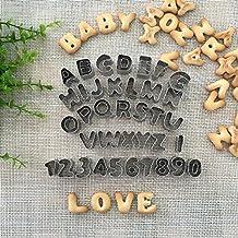 Ören Keksausstecher Buchstaben Zahlen 37-Teilig aus Edelstahl Mini