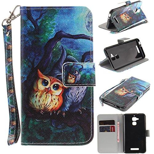 Lomogo Cover ASUS Zenfone 3 Max ZC520TL, Custodia Portafoglio in Pelle Porta Carta di Credito con Chiusura Magnetica per ASUS Zenfone3 Max (ZC520TL) - TOXI24654#11