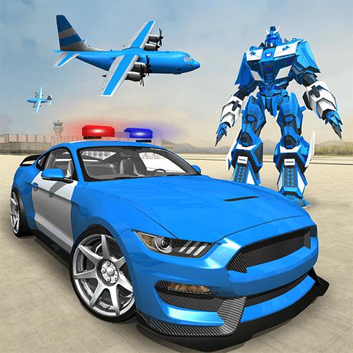 US-Polizei-Roboter-Auto - Polizeiflugzeug-Transport-Schiff 2018 -