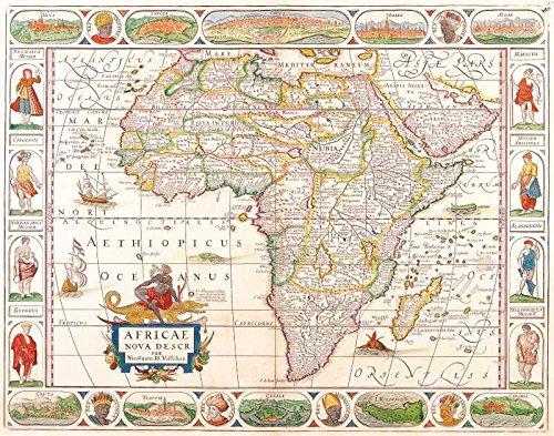 Das Museum Outlet-Art Postkarte-Afrika, Nicolas Visscher 1658-Set 12Stück Postkarten -