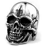 خاتم مجوهرات عصري من الفولاذ المقاوم للصدأ من ZMY ، خاتم جمجمة ابتسامة غريبة للرجال