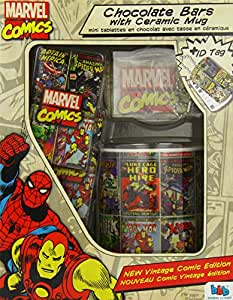 Bon Bon Buddies Marvel Comics Chocolate Bar with Ceramic Mug 30 g (Pack of 3)