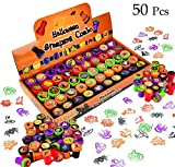 JOYIN 50 Pieces Halloween Assorted Stamps for Kids Self-Ink Stamps (25 DIFFERENT Designs, Plastic Stamps, Trick Or Treat Stamps, Spooky Stamps) for Halloween Party Bag Fillers, Halloween Goodies Bags