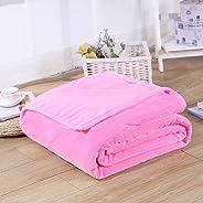 Flannel Fleece Blanket,king size 220 * 230cm super warm soft blankets, throw on Sofa/Bed بطانية ناعمة سادة نفرين بطانية لغرفة النوم وأراءك