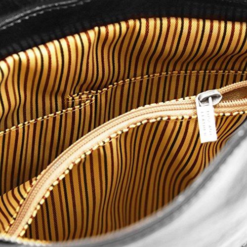 Tuscany Leather Patty Borsa donna in pelle convertibile a zaino Testa di Moro Nero