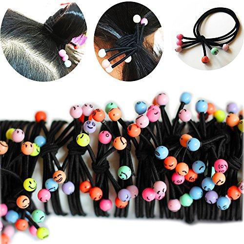 Flowerfox krawatte haar seil pferdeschwanz hair - metal elastisch stretch - inhaber bündchen haargummi (Schäden Inhaber Pferdeschwanz)