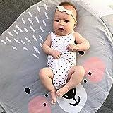 Estera de juego para bebé Werchenli Cartoon Style para piso reversible 100% algodón grueso 37,4 pulgadas tapete de juego para niños, Koala