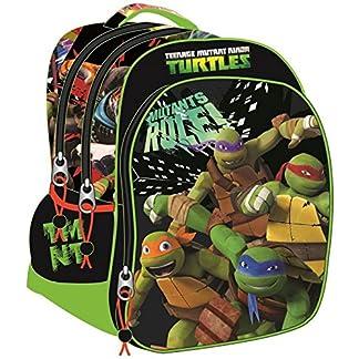 Tortugas Ninja – Mochila extragrande 46,5cm triple compartimento de Tortugas Ninja