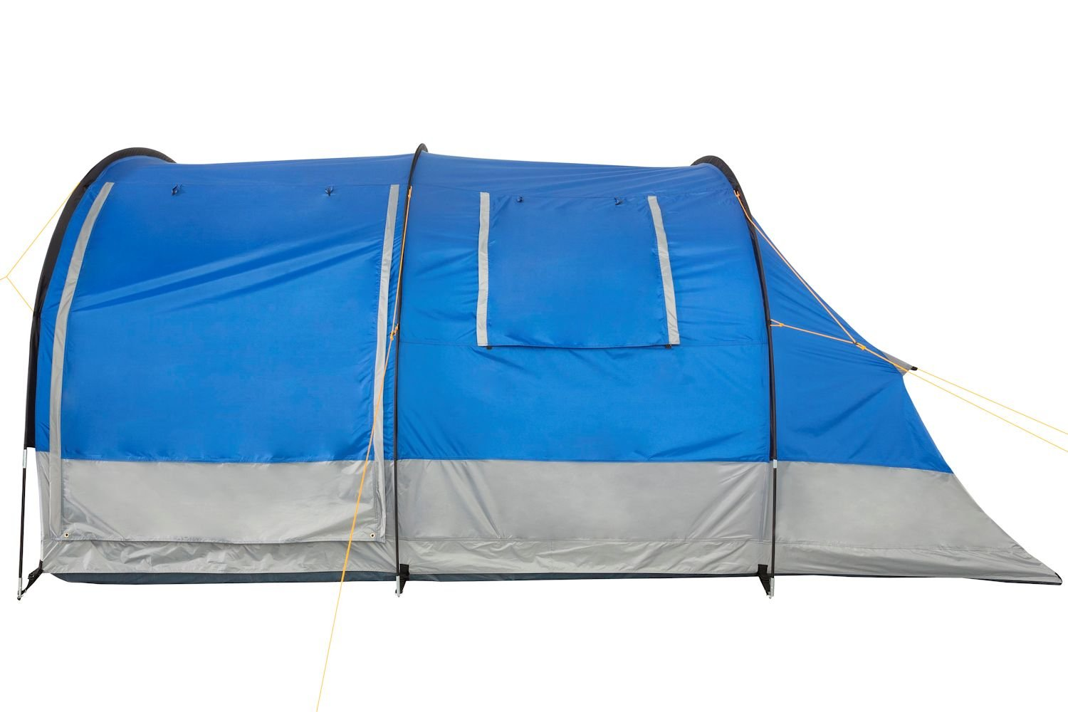 CampFeuer - Tunnel Tent, 4 Person, 410x250x190 cm, blue/grey 3