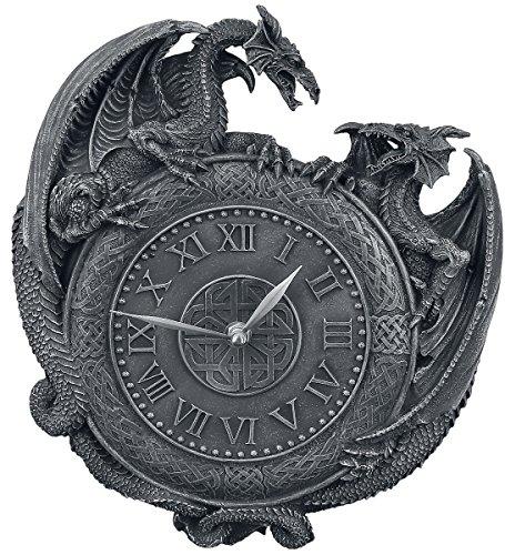 Nemesis Now Dragon Duel Wall Clock Reloj de pared Negro Poliresina