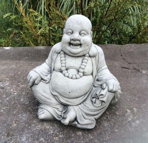 Statue Happy Buddha Outdoor (Stein Happy Buddha Gartenfigur Lachender Happy)