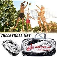 BDLeKing Red de Voleibol portátil, Kit Original de Voleibol, Ribete de Lona Engrosada de Cuatro Lados PE Red de Voleibol estándar Duradera para la práctica de Entrenamiento de competición