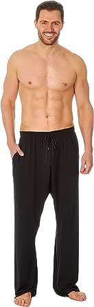 JASON JONES Men's Woven Lounge Bed Pants Pyjama Bottoms Checked Trousers Twill PJ Cotton Breathable Comfortable Elasticated Waist Nightwear S-XXL