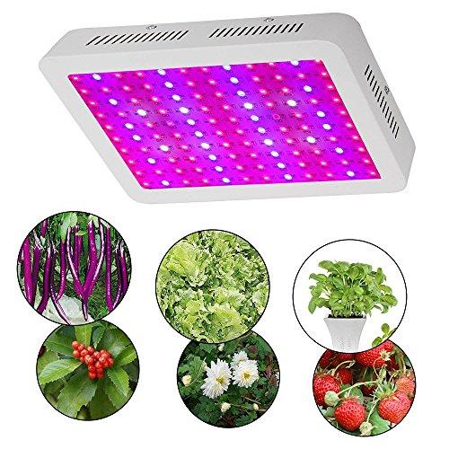 BOHAO Pflanzenlampe, 600W Dual Chips LED Grow Lampe LED Pflanzenlicht Wachstumslampe Pflanzenbeleuchtung Full Spectrum wachsen für Treibhaus Zimmerpflanzen Hydrokultur Gemüse und Blumen (600W) 600w Led